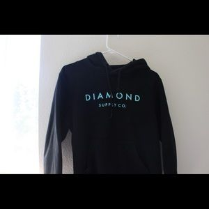 Diamond Supply Co. Black and Turquoise Hoodie